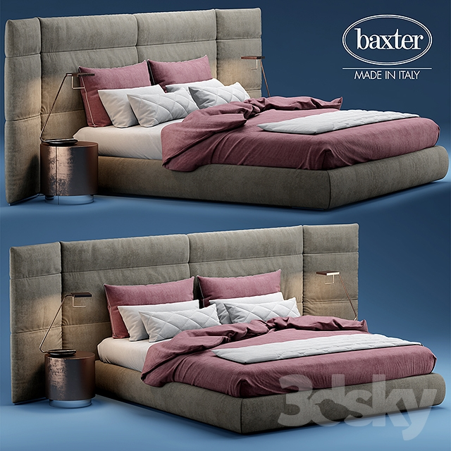 3dsky pro Bed BAXTER COUCHE EXTRA free download - GFXART7
