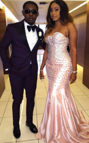 comedian AY and his wife at AMVCA 2016
