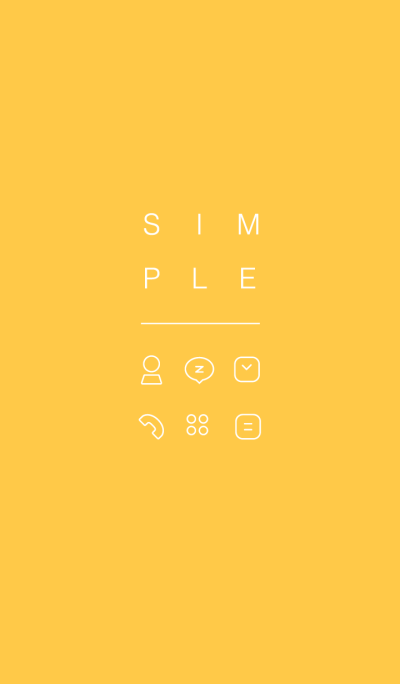 SIMPLE / yellow.