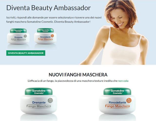 clicca qui per candidarti come tester dei Fanghi maschera Somatoline Cosmetics