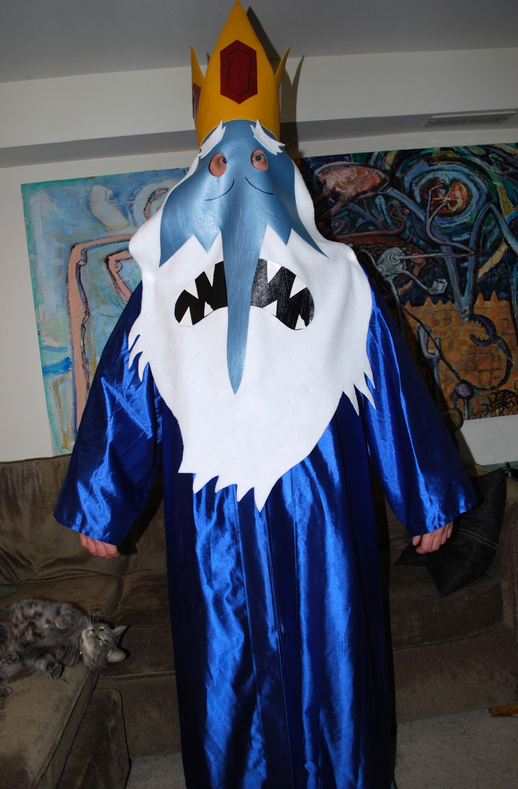 A Patchwork World How To Make An Ice King Mask And