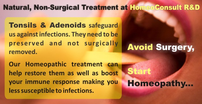 Homeoconsult Rd Tonsil Adenoid Children Homeopathy Treatment
