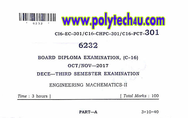 maths-2 question papers for dipoma in ece c-16
