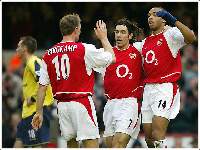 Pirès Henry Bergkamp Arsenal