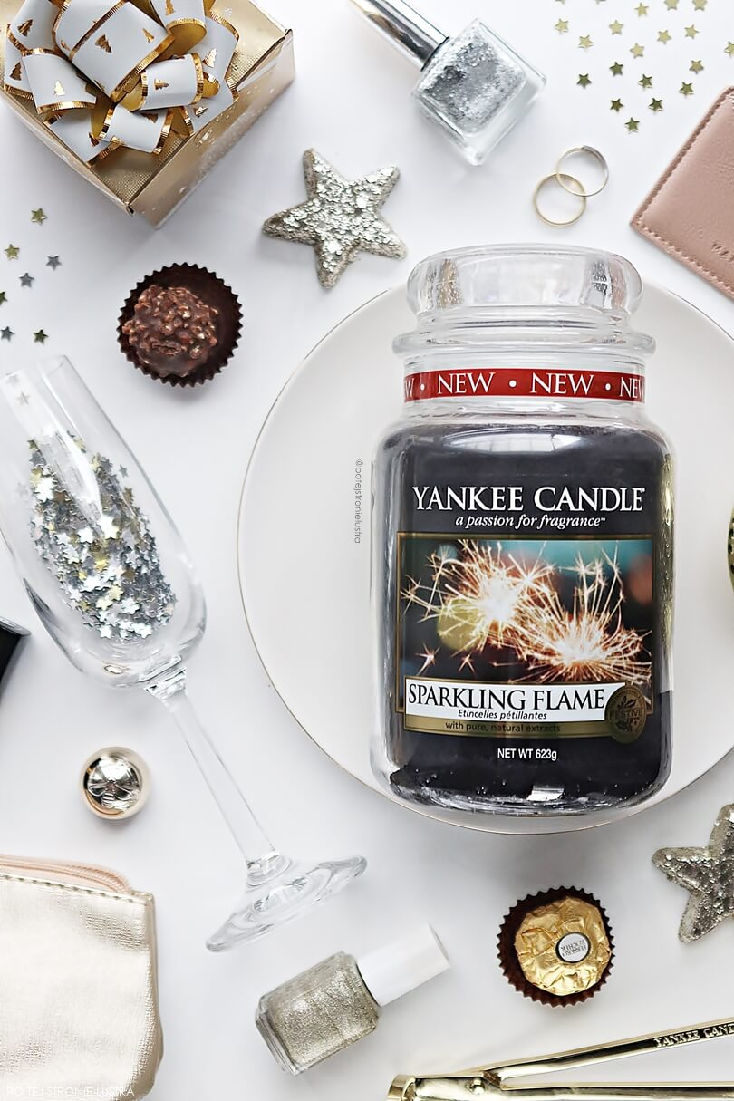 Yankee Candle Sparkling Flame zapach na sylwestra