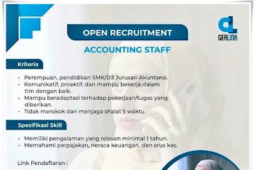 Loker Bandung Accounting Staff Gerlink Bandung
