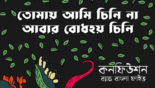 Tomay Ami Chinina Confusion Lyrics by Bangla Five