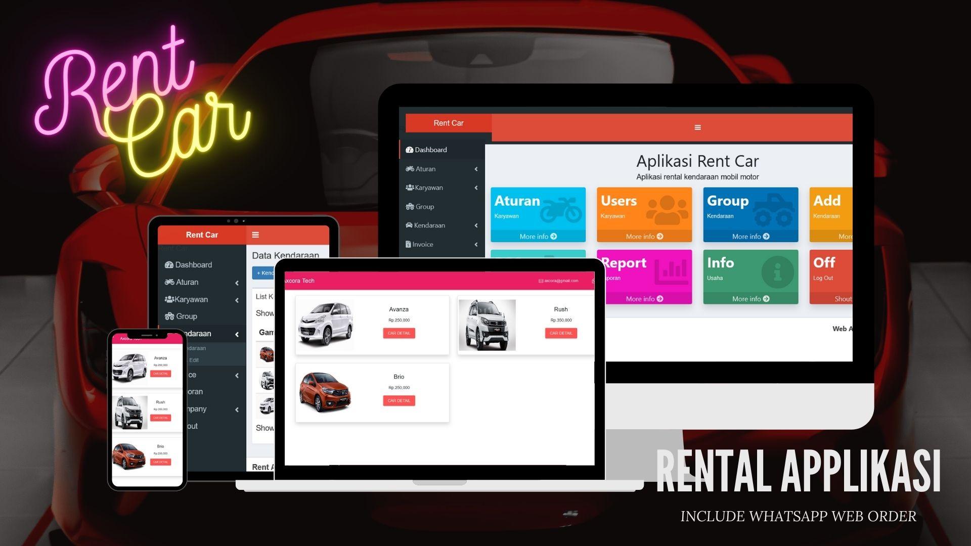 Pembuatan website aplikasi rental kendaraan rent car