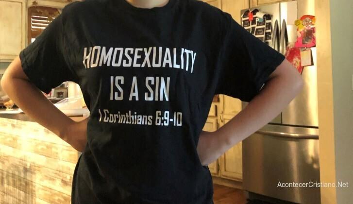Camiseta homosexualidad es pecado