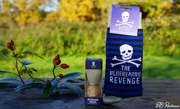 The Bluebeards Revenge Doubloon Synthetic Shaving Brush & Socks