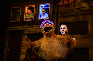 Trekkie Monster on stage (about to point at me and make Dan Jon laugh!)