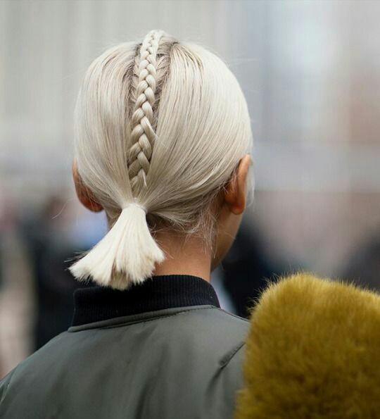 Grey short hairstyle