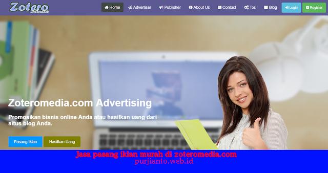 Jasa pasang iklan murah di zoteromedia.com