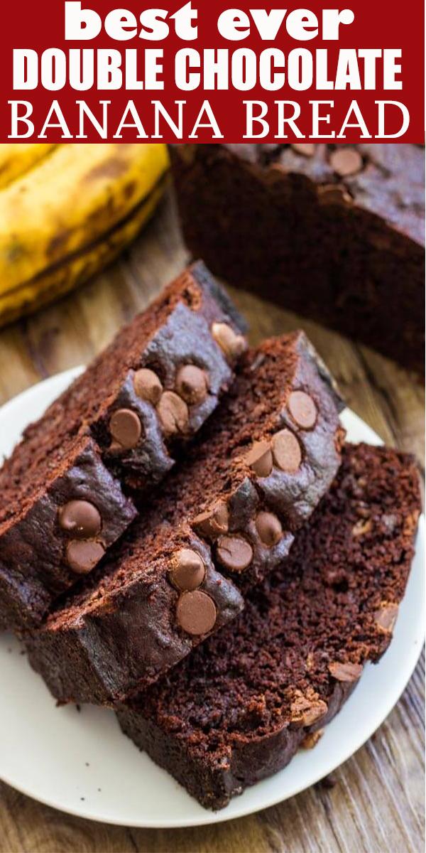 DOUBLE CHOCOLATE BANANA BREAD #DOUBLE #CHOCOLATE #BANANA #BREAD #DOUBLECHOCOLATEBANANABREAD