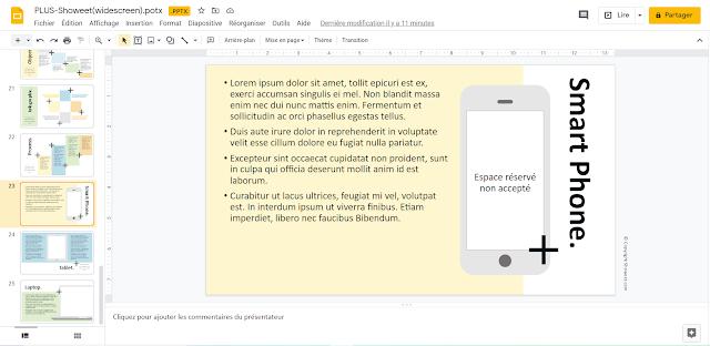 Modèle de Présentation PPT - Simulation Smart Phone