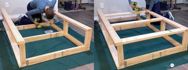 attaching front and back frames for bed