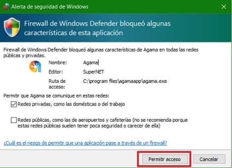 Permitir Acceso Firewall PIVX Criptomoneda