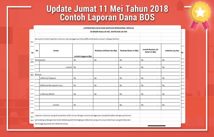 Update Jumat 11 Mei Tahun 2018 Contoh Laporan Dana BOS