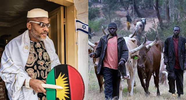 Nnamdi Kanu Reacts As Presidency Promises To Stop Herdsmen From Roaming Around