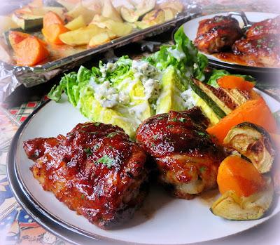 Sticky BBQ Chicken Thighs