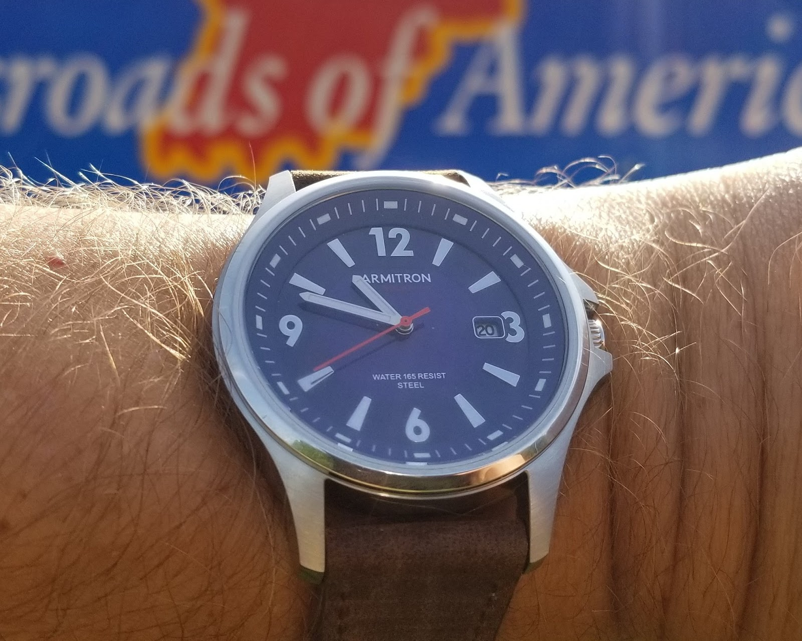 92abf6501 This Armitron solar watch looks great with my suit and with a water  resistant rating of 50 meters/165 feet it is durable enough to ...