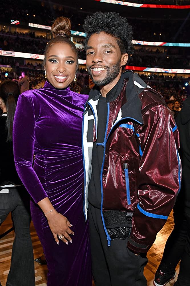 Chadwick Boseman and Jennifer Hudson