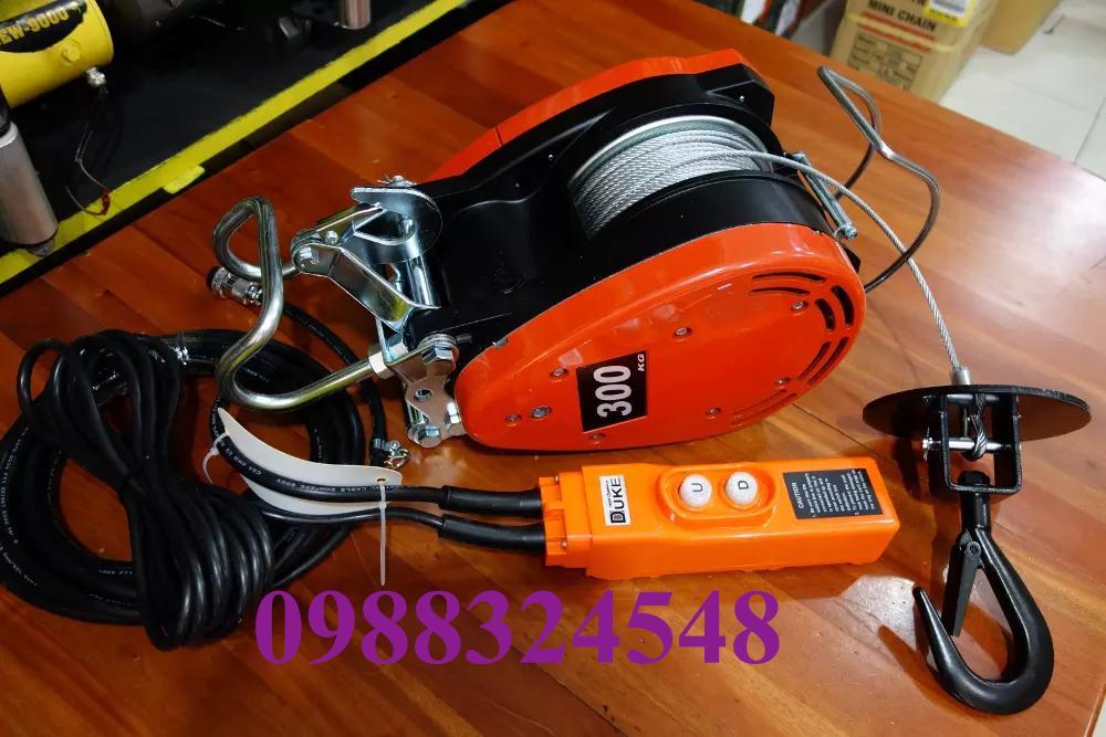 Tời cáp điện treo mini Duke DU-300A