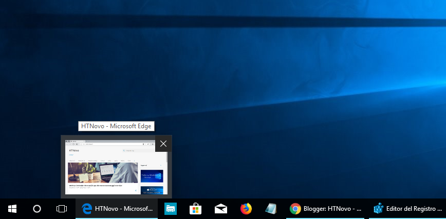 Dimensione -standard-miniature-taskbar-Windows-10