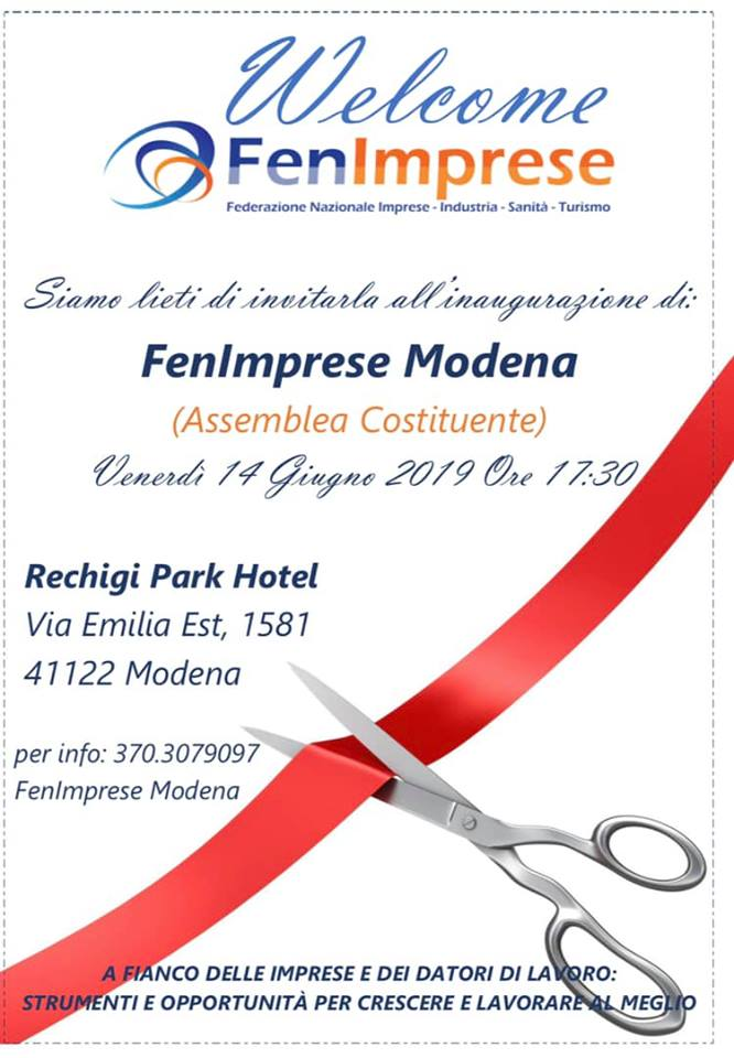 14 giugno start FenImprese Modena assemblea costituente