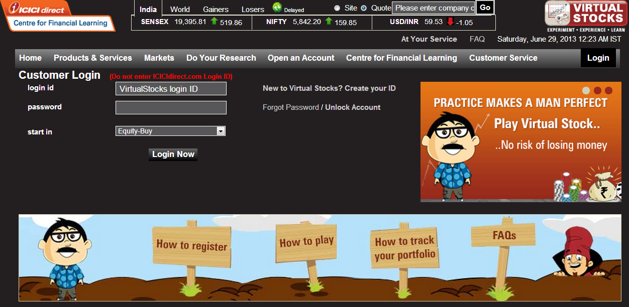 Virtual options trading game india