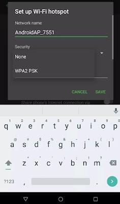 استخدام الهاتف الذكي كنقطة اتصال محمولة على هواتف الأندرويد