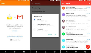 Gmail on Android Support Exchange account
