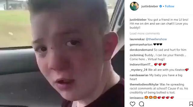 Justin Beiber, Rihanna, Cardi B, Snoop Dogg and other celebrities send support to bullied teen boy, Keaton Jones