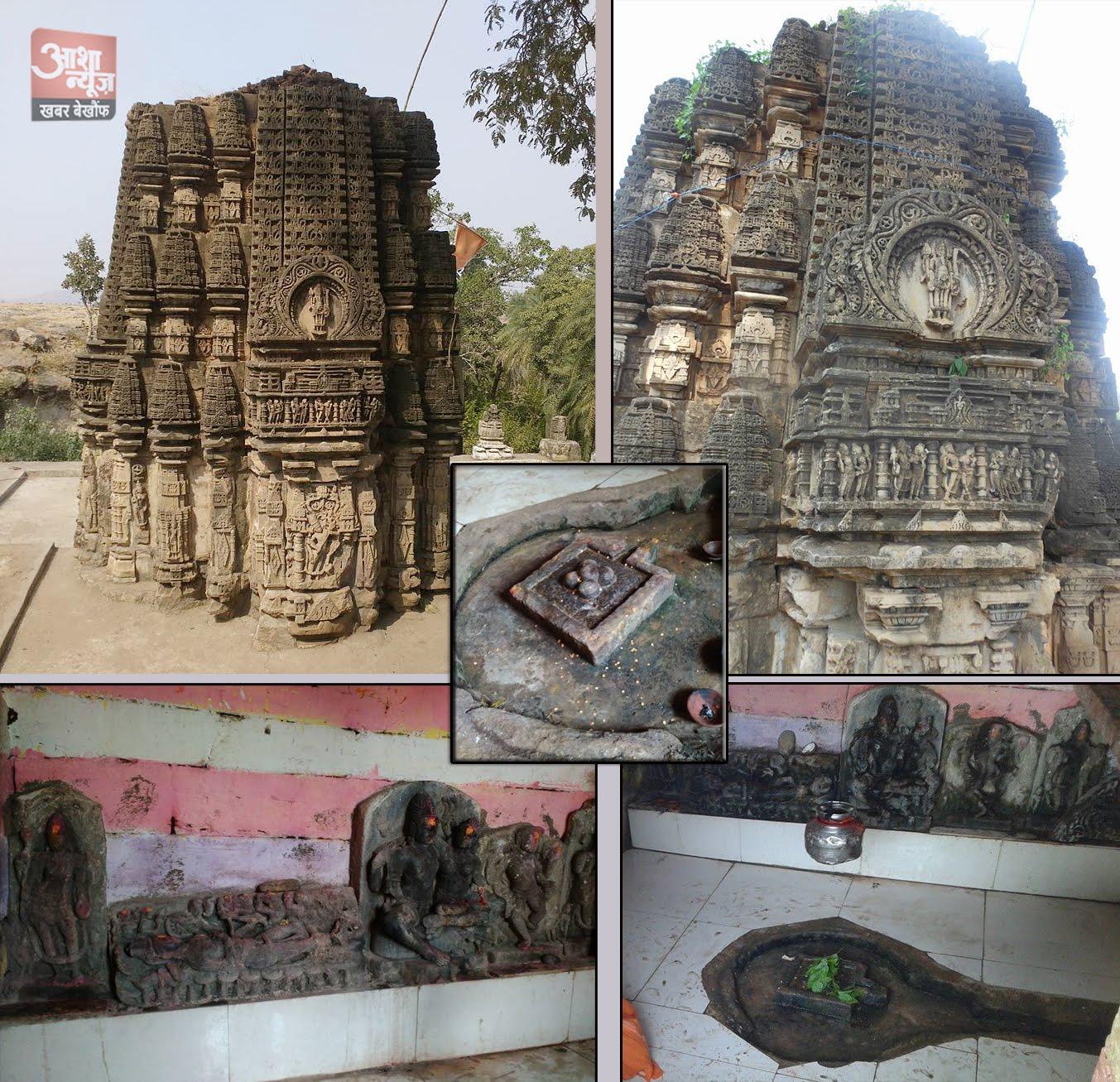 राणापुर से 12 किमी दूर स्थित ग्राम देवल फलिया प्राचीन शिव मंदिर दुर्लभ पंचमुखी शिवलिंग-ranapur-deval-faliya-shiv-mandir