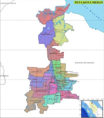 Daftar Kode Pos Kota Medan dari 21 Kecamatan dan 151 Kelurahan yang ada di Kota Medan, Provinsi Sumatra Utara :