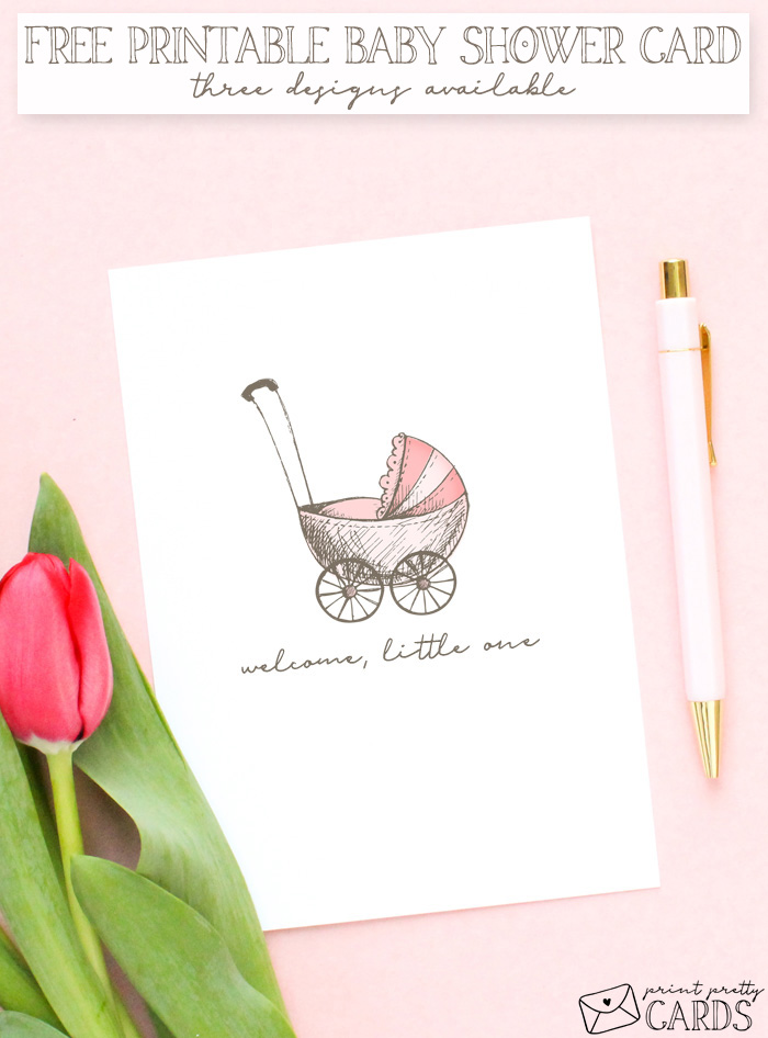 Free Printable Baby Shower Card Print Pretty Cards