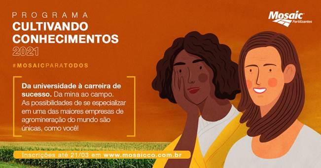 Mosaic Fertilizantes abre inscrições para Programa Cultivando Conhecimentos