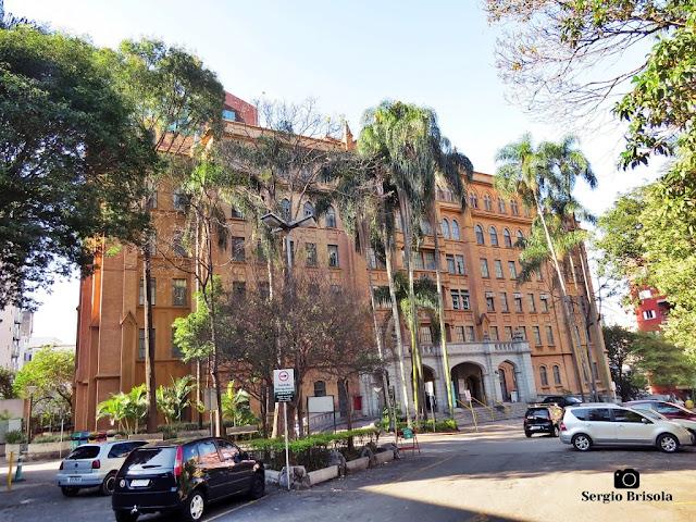 Vista ampla do Ambulatório Conde de Lara - Santa Casa de São Paulo - Vila Buarque - São Paulo