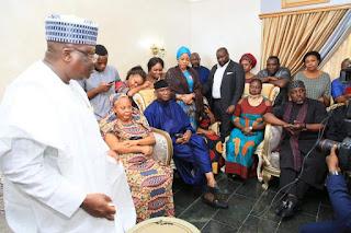 Senate President Lawan, Others Pay Condolences Visit To Uwajumogu's Family (Photo)
