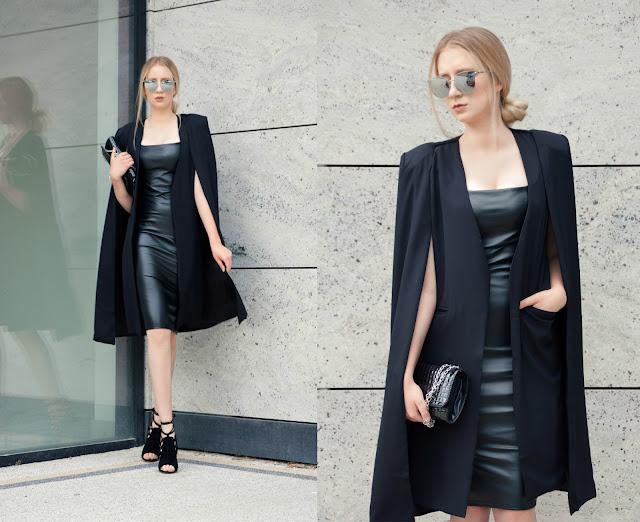 Loose Cape Cloak Overcoat - Black L