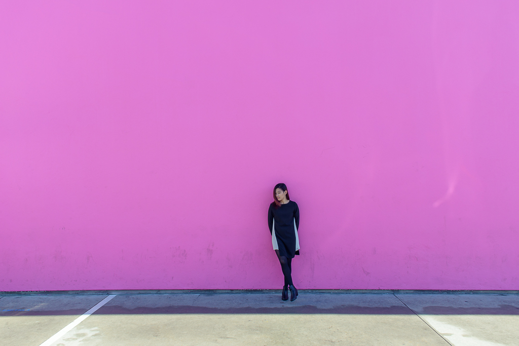 blogger wall pink wall paul smith los angeles california