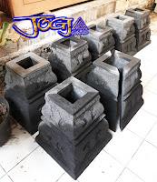 Umpak batu alam hitam / batu candi sangat cocok untuk rumah joglo, rumah limasan dan gazebo