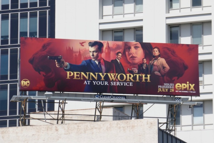 Pennyworth series launch billboard