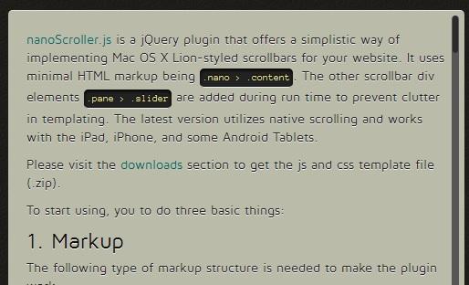 8 jQuery Custom Scrollbar Plugins Example Tutorials - ASP