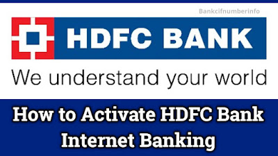 Activate HDFC internet banking