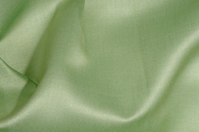 Spinach Green Cotton Silk Fabric
