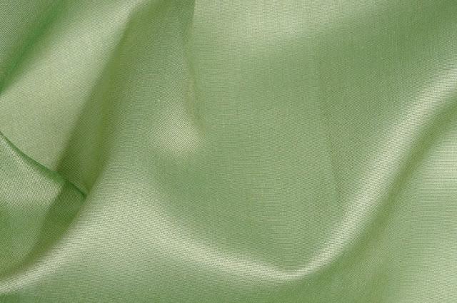 Spinach Green Cotton Silk Fabric