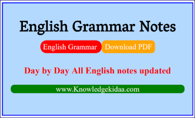 English Grammar Important Notes | PDF Download |