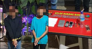 Dua pelaku penyalahgunaan narkoba ditangkap Team OPS Narkoba Polda NTB