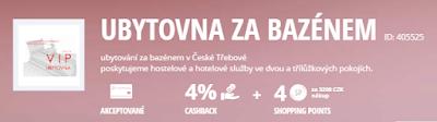 Ubytovna Za bazénem Česká Třebová Lyoness Cashback Card členské výhody